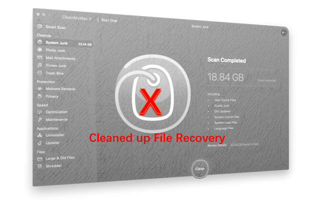 CleanMyMac clean up my important files