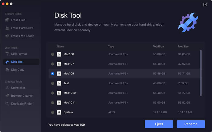 disk formatting software for macOS Catalina/Mojave
