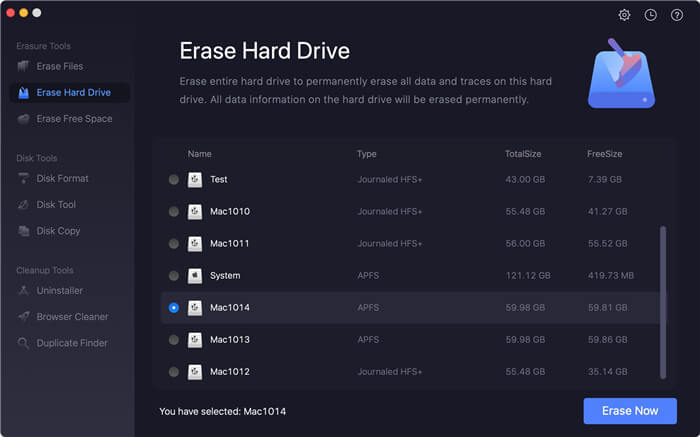 erase Mac Mini data